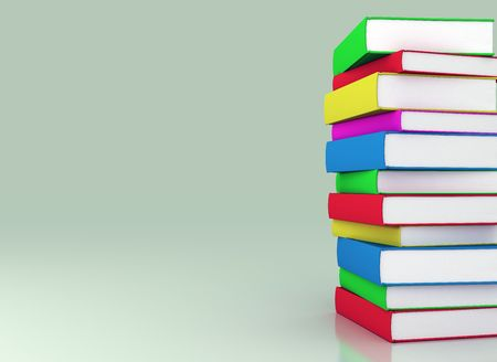 stack of books: Stack of colorful books