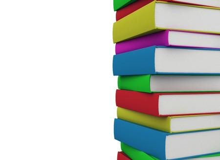 Books isolated o nwhite - copy space  Stock Photo - 7161701