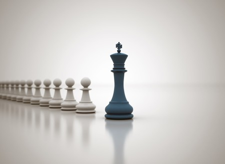different directions: Leadership chess concept