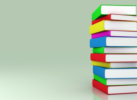 Multi colored books stacked - Education photo