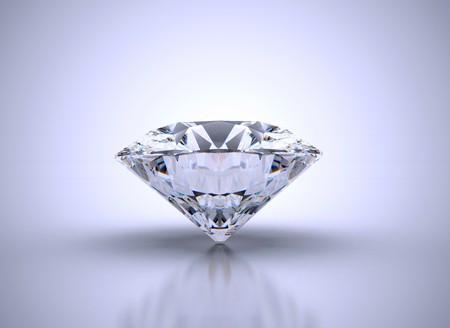 Single diamond with vignette  Stock Photo - 7816684
