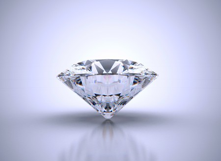 scintillation: Single diamond with vignette