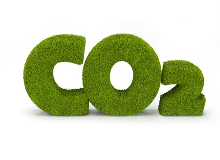 carbon neutral: Co2 illustration isolated on white