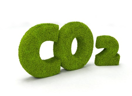 Co2 illustration isolated on white