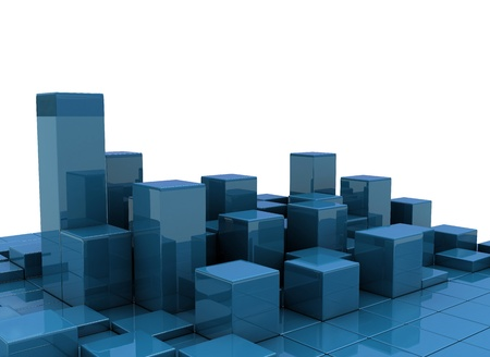 abstract urban background of 3d blocks  photo