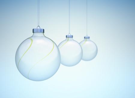 dof: Christmas balls in a row slight dof