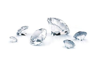 ダイヤモンド: 白い背景で隔離のダイヤモンド 写真素材