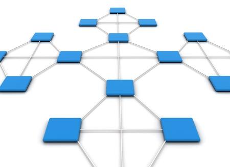 Network illustration Stock Illustration - 8222480
