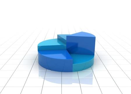 grafica de barras: Un colorido 3d gr�fico gr�fico ilustraci�n - vista lateral  Foto de archivo