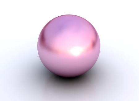 perle rose: Rose pearl isol� sur fond blanc  Banque d'images