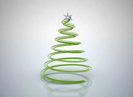 green plastic spiral christmas tree illustration stock illustration 8248946