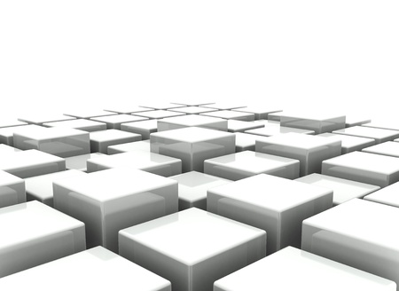 fundamental: Abstract  background of 3d blocks