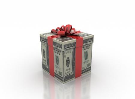 cash gift isolated on a white background  Reklamní fotografie