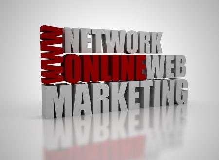 Network marketing: 3D marketing on-line de palabras relacionadas