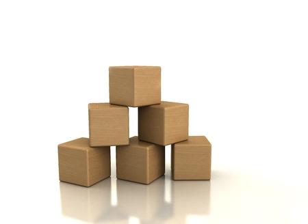 bloques: Bloques de madera sobre fondo blanco  Foto de archivo