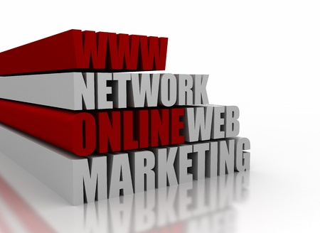 3D online marketing related words  Stock Photo - 8248943
