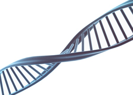 raytrace: Dna illustration isolated on white
