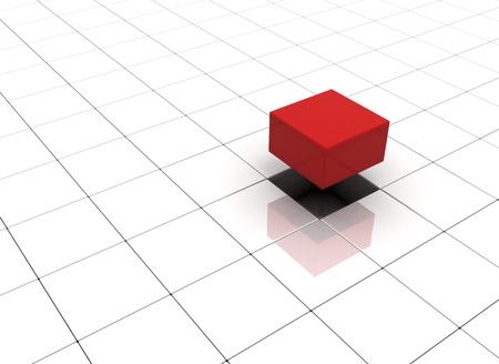 Individuality concept illustration cubes Stock Illustration - 8378374