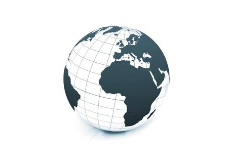 World globe on white background illustration illustration