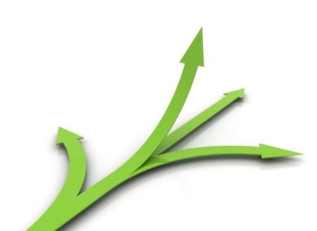 Green arrows - choice concept  photo