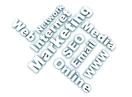 Internet marketing related words - white Stock Photo - 8378401