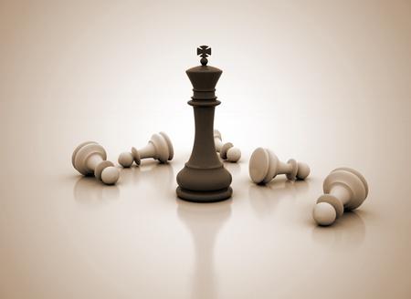 tablero de ajedrez: Ilustraci�n de la competencia de concepto de negocio