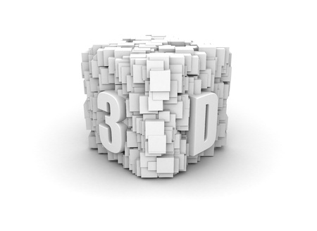 3D technology symbol photo