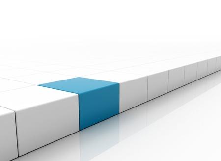 blue square conceptual Stock Photo - 8620884