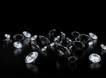 royalty: Diamonds on black background