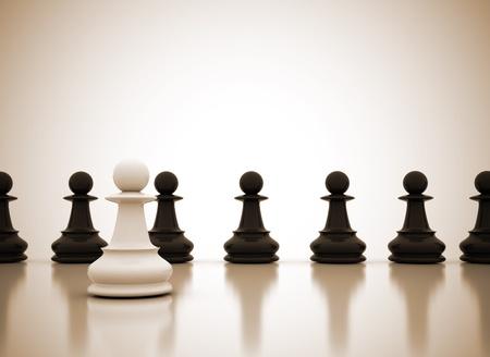 �checs: Concept de leadership commercial  Banque d'images