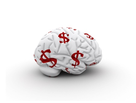 Brain with dollar sign texture  Stock Photo - 8953685