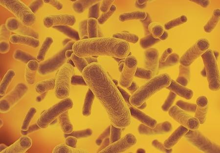 microbiologia: Render 3d de fondo de ciencia de bacterias Foto de archivo