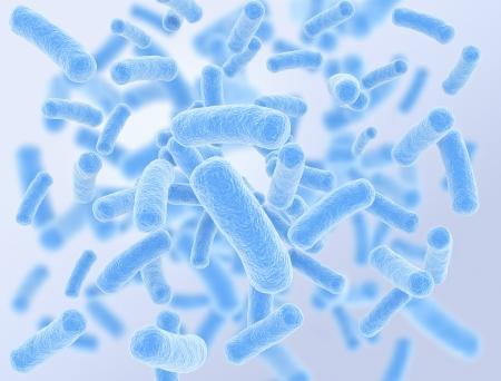 blue bacteria cells high resolution 3d render