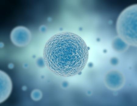 bacterie: Illustratie vermenigvuldiging van cellen in blauw  Stockfoto