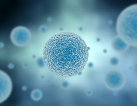 membrana cellulare: Moltiplicazione di illustrazione delle cellule in blu  Archivio Fotografico