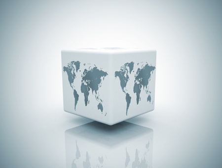 world box on white background photo