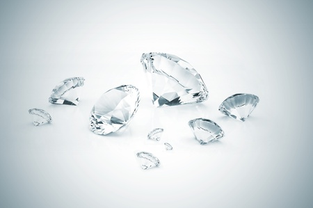 Many diamonds different size  Stock Photo - 9394110