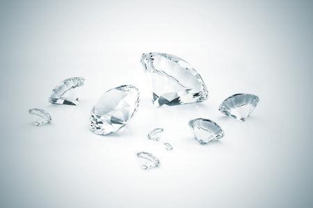 Many diamonds different size Stock Photo - 9394110