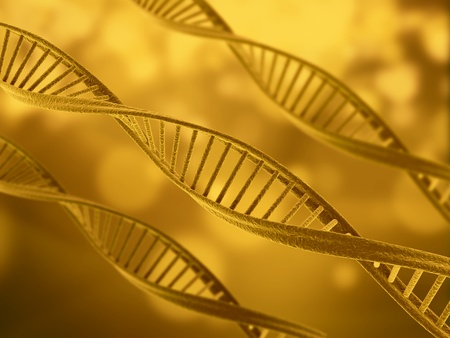 Dna illustration golden tone Stock Illustration - 9394128