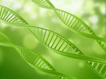 Dna illustration green