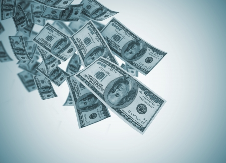 refund: Falling money with vignette
