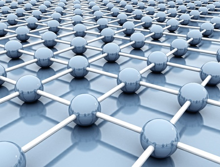 3d abstract render of network concept Stock Photo - 9394141