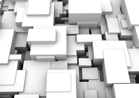 abstract 3d cubes Stock Photo - 9586696