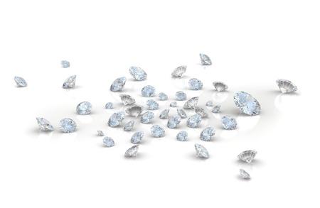 queen diamonds: Grande quantit� di diamanti su sfondo bianco