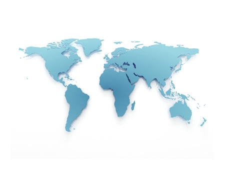 mapa de africa: Mapa del mundo azul negocios aislado en blanco