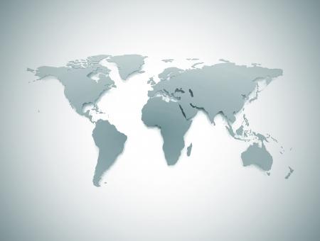 Mapa del mundo empresarial azul  Foto de archivo