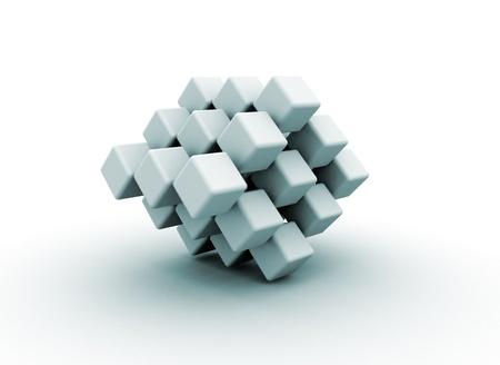 Abstract cube shape  photo
