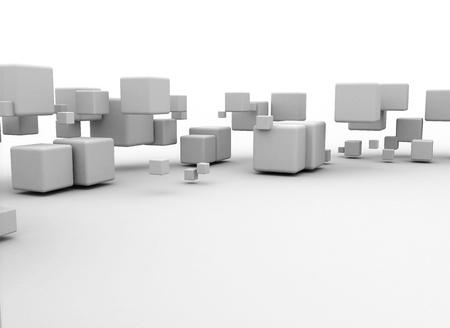 White flying boxes  Stock Photo - 9897283