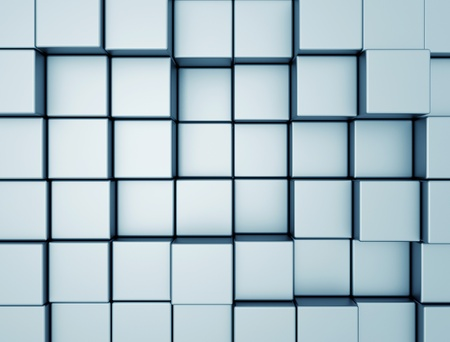 Abstract metal cubes background photo