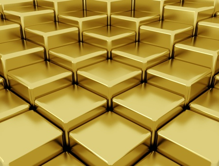 cubic: Golden abstract background